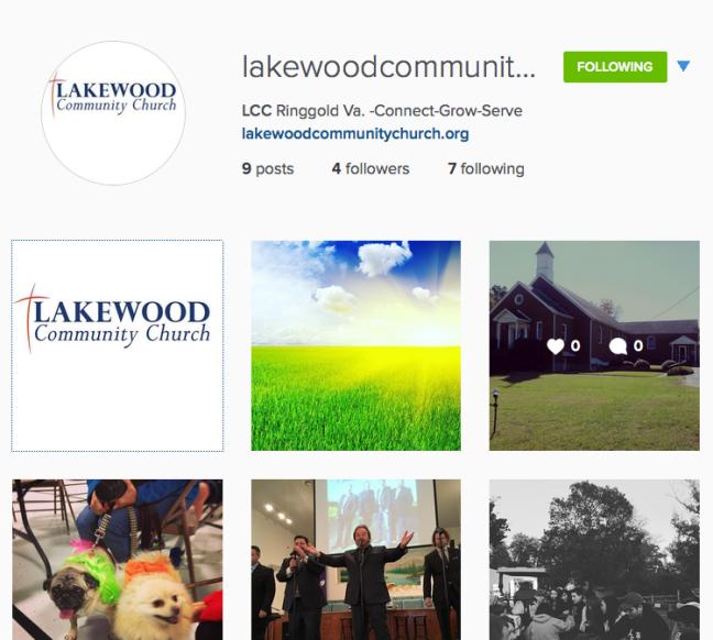 Sample of LCC Instagram Site